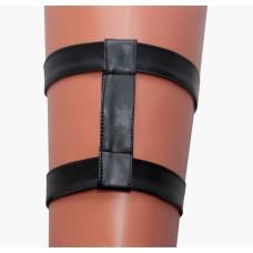 Подвязка кожа+ 2 полосы